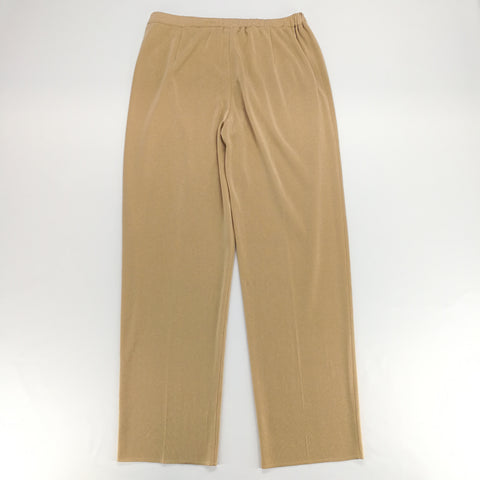 Ming Wang Khaki Pull On Stretch Pants Size PXL,Pants,Ming Wang,Around Again Inc