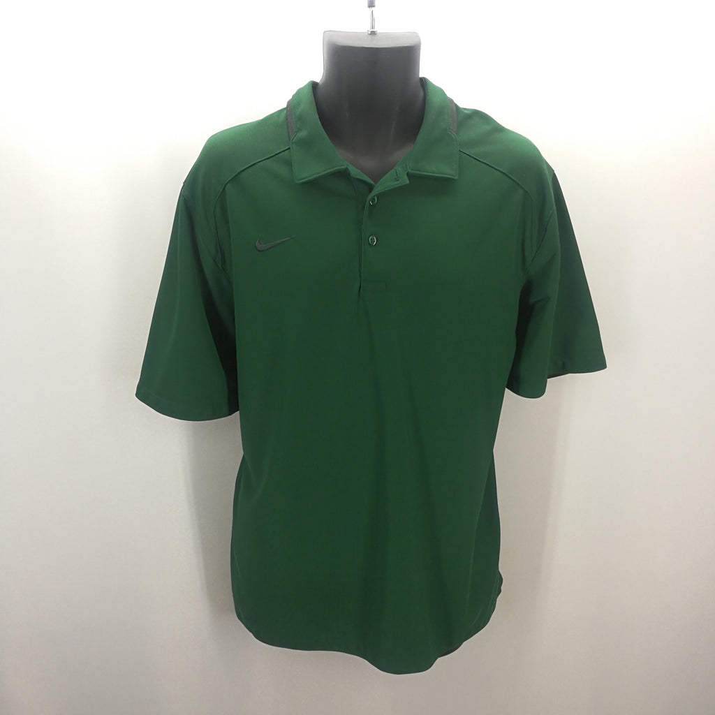 Nike Forest Green Dri-Fit Polo Top Size XL,Tops,Nike,Around Again Inc