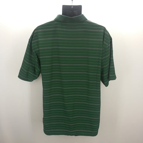 Nike Golf Forest Green Striped Fit-Dry Polo Top Size XL,Tops,Nike,Around Again Inc