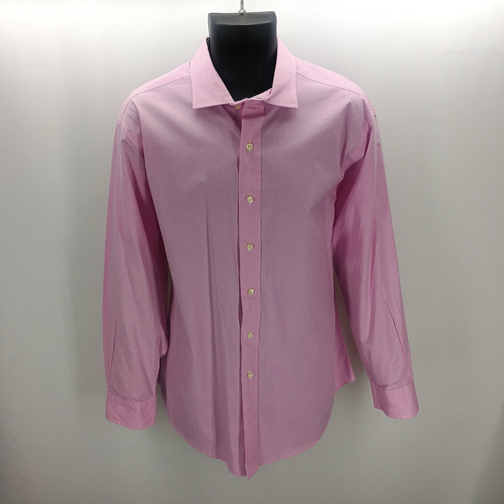 Polo by Ralph Lauren Pink White Checkered Top Size 17 32/33,Tops,Polo by Ralph Lauren,Around Again Inc