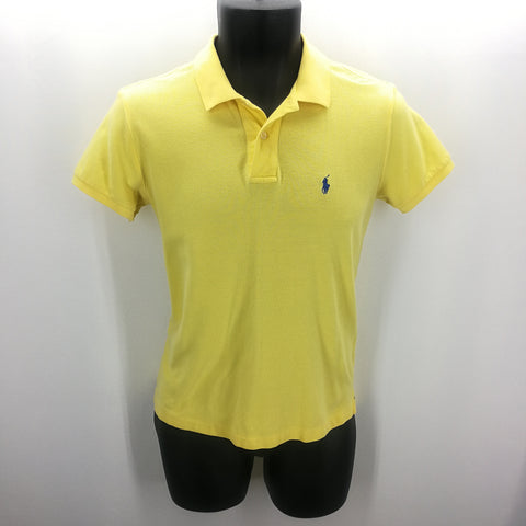 Ralph Lauren Yellow Pique Polo Top Size Small,Tops,Ralph Lauren,Around Again Inc