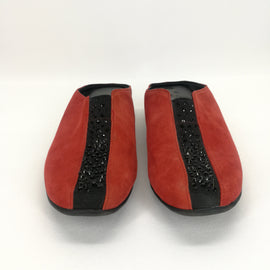 J. Renee CAYLA Red Suede Mule Flats Size 7 W,Shoes,J. Renee,Around Again Inc