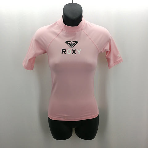 Roxy Pink Rash Guard Swim Top Size 12G / 12,Swimwear,Roxy,Around Again Inc