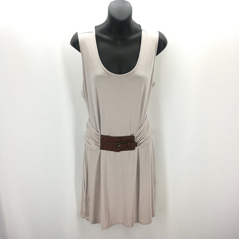 Simply Noelle Beige Croc Belted Stretch Dress Size S/M (8-10),Dresses,Simply Noelle,Around Again Inc