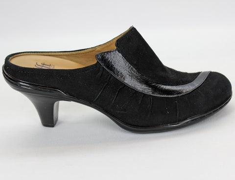 Sofft Black Suede Leather Slip-On Mules Size 6M - Around Again Inc