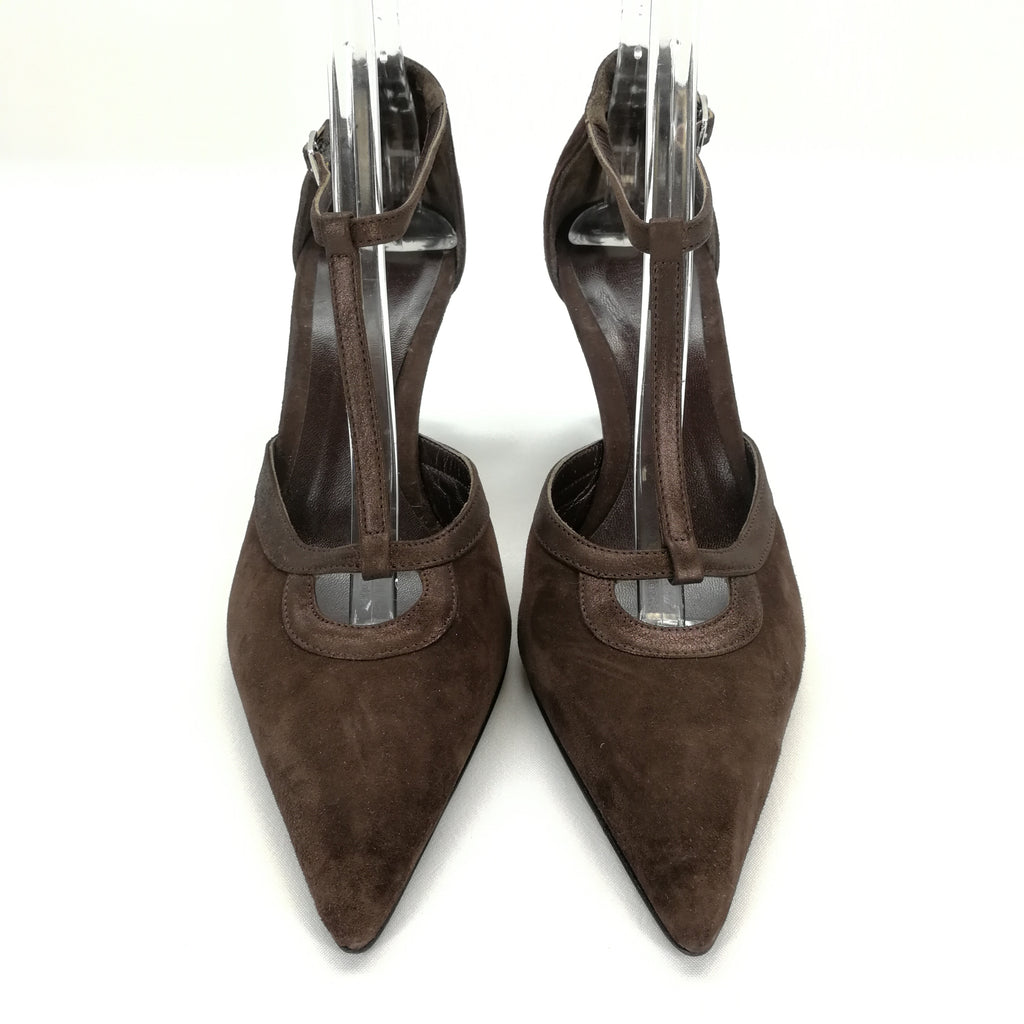 0de68eff6a0 Talbots Collection Brown Suede T-Strap Heels Size 8.5 – Around Again Inc