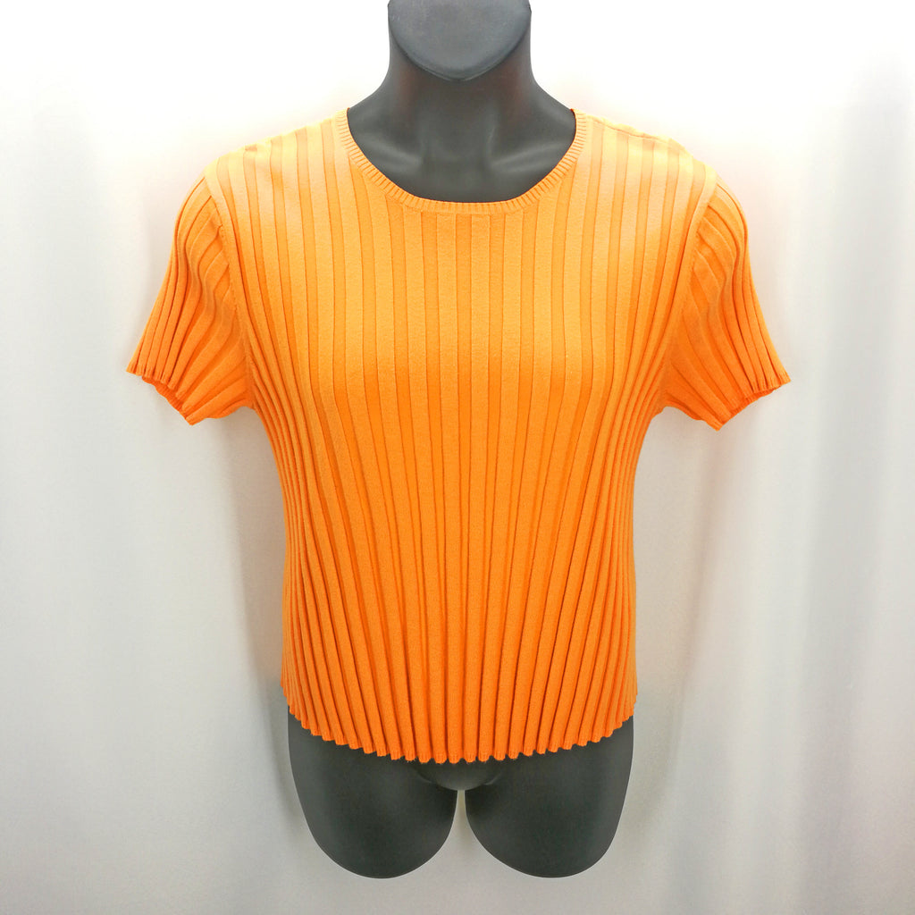 Talbots Peach Ribbed Top Size XL,Tops,Talbots,Around Again Inc