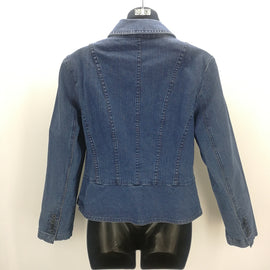 Talbots Petites Stretch Blue Denim Jacket Size 6,Jackets,Talbots,Around Again Inc