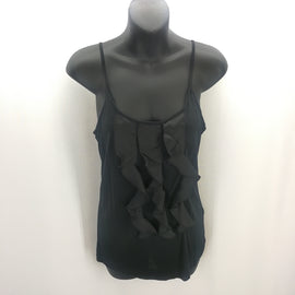 The Limited Black Ruffled Tank Top Size Small,Tops,The Limited,Around Again Inc
