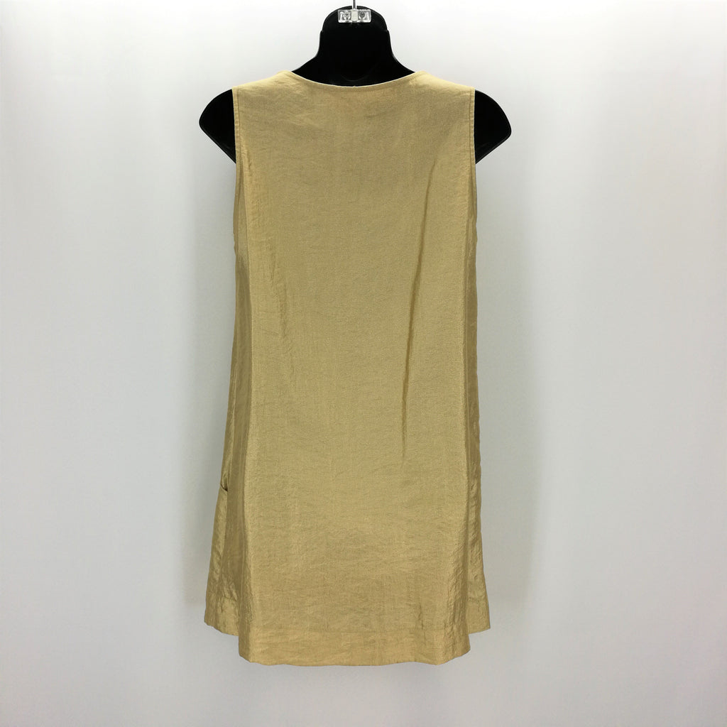 XXI Metallic Gold Rhinestone Embellished Dress Size Junior Medium,Dresses,XXI,Around Again Inc