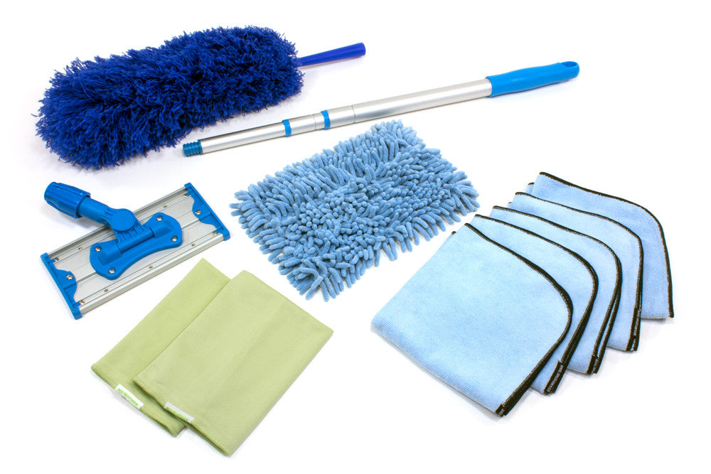 "Small Apartment Mop Cleaning Kit (9"" Mop and 46"" Pole)"
