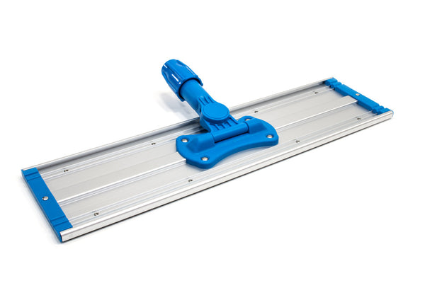 "18"" Aluminum Flat Mop Head - Two Velcro Strips"