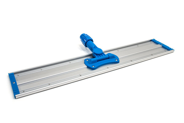 "24"" Aluminum Flat Mop Head - Two Velcro Strips"