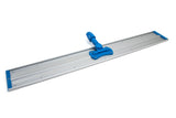 "36"" Aluminum Flat Mop Head - Two Velcro Strips"