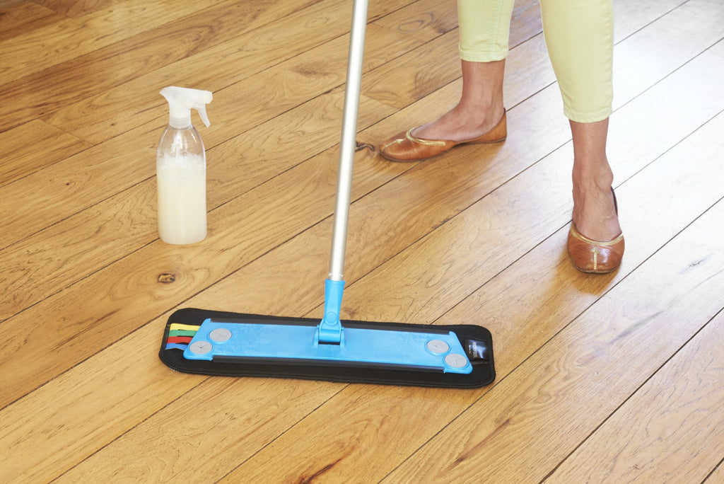 16 Household Microfiber Mop Kit Includes Wet And Dust Pad
