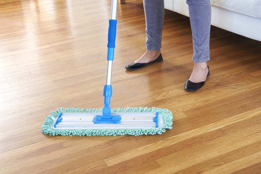 18 Quot Commercial Mop Starter Kit Includes Wet And Dust Pads