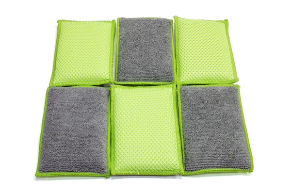 Microfiber Dish and Counter Sponges - 6 pack