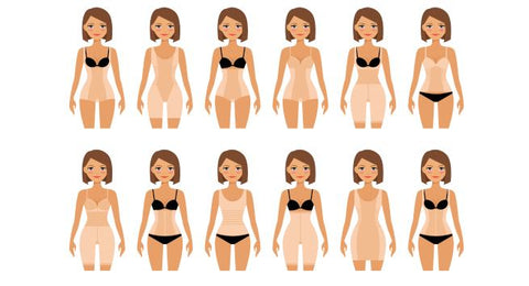 Women in different types of shapewear