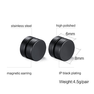 Stylish Magnetic Weight Loss Plug Earrings Diagram