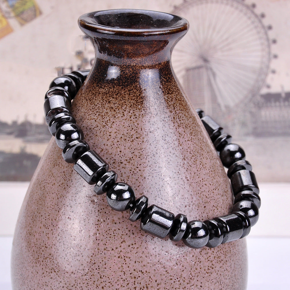 Black Stone Magnetic Therapy Bracelet