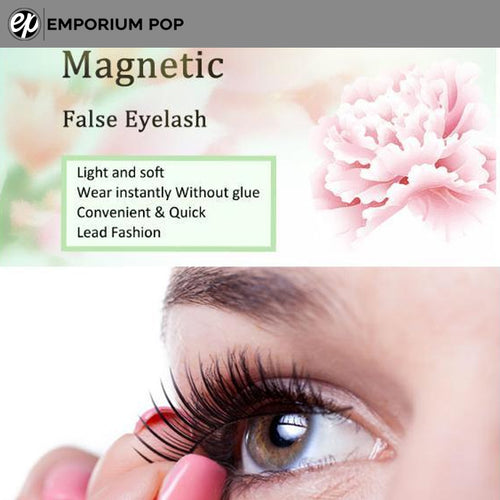 4 Pcs Reusable Magnetic False Eyelashes