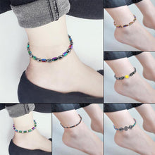 Stylish Magnetic Weight Loss Anklet Collection On Different Ankles