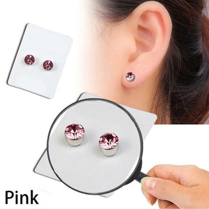 Stylish Weight Loss Stud Earrings Pink