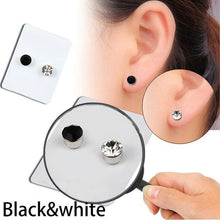 Stylish Weight Loss Stud Earrings Black and White