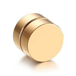 Stylish Magnetic Weight Loss Plug Earrings Gold