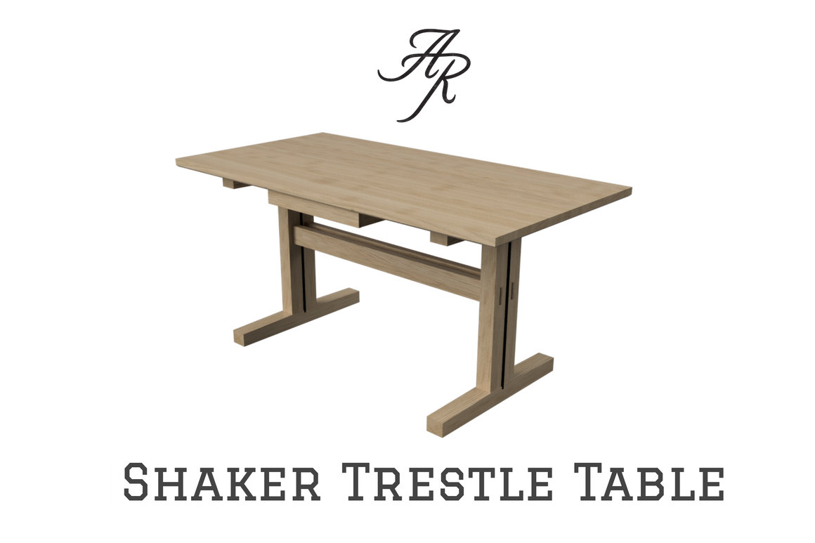 Shaker Trestle Table (W/ Drawer)