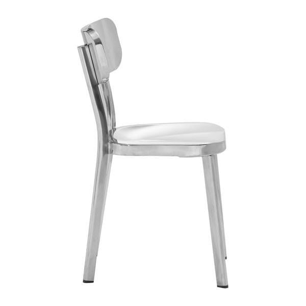 Hiver Stainless Steel Dining Chair , EMFURN - 1