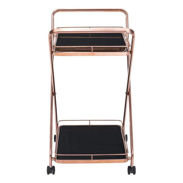 Vesuvius Serving Cart Rose Gold , EMFURN - 1