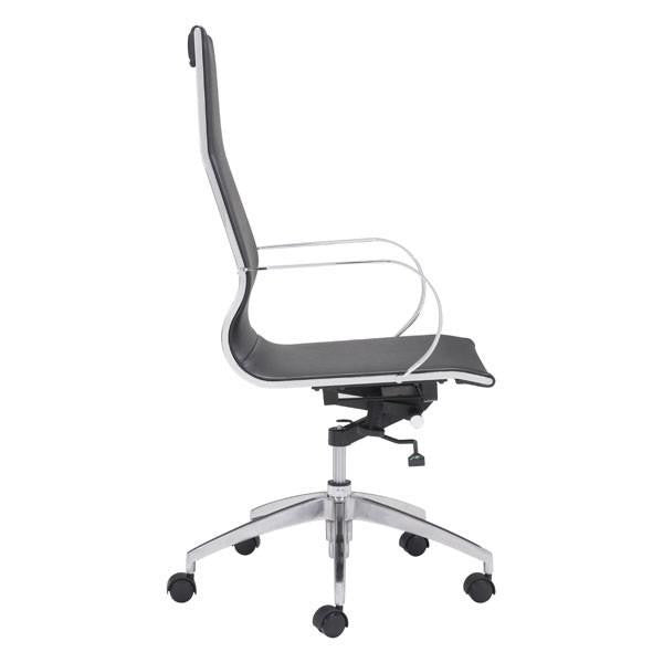 Glider Hi Back Office Chair Black, EMFURN - 1