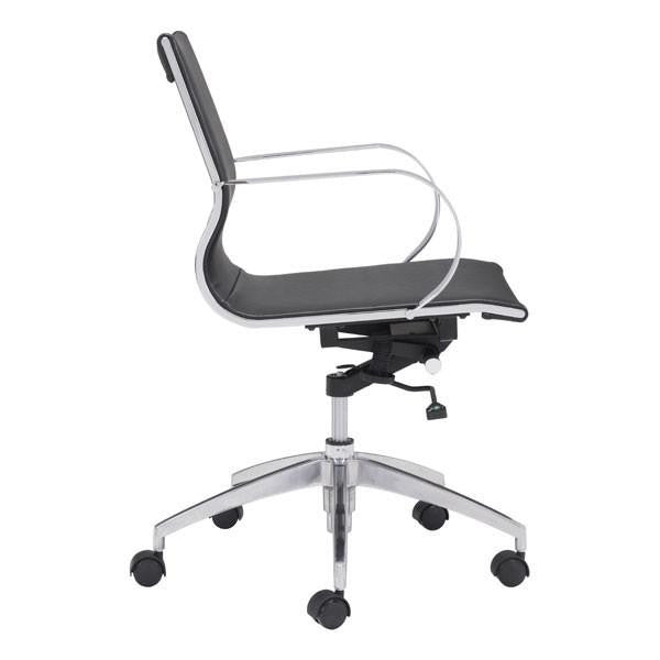 Gaston Low Back Office Chair Black, EMFURN - 1