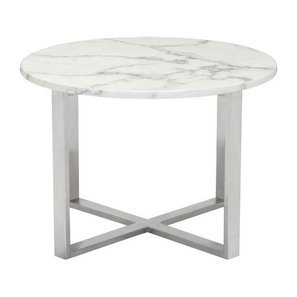 Dixie Faux Marble Side Table