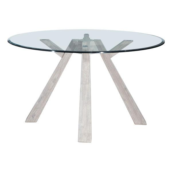Beckett Glass Round Dining Table
