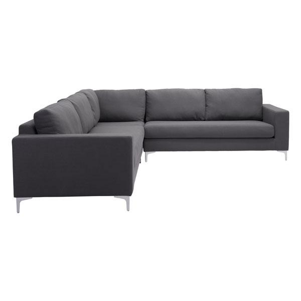 Rustin Charcoal Gray Sectional