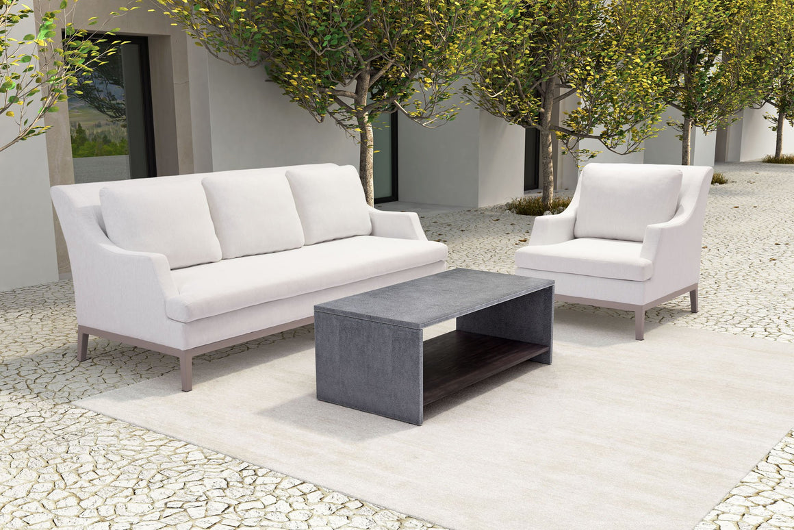 Ollie Champagne White Outdoor Sofa