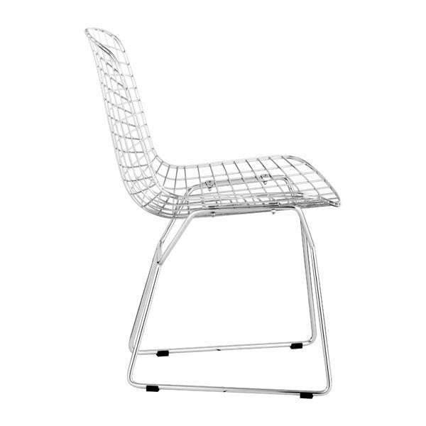 Wire Dining Chair Chrome , EMFURN - 1