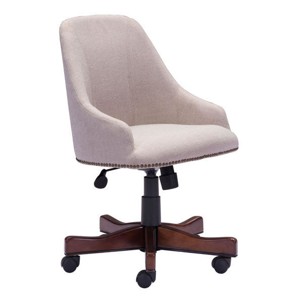 Bryce Beige Office Chair , EMFURN - 1