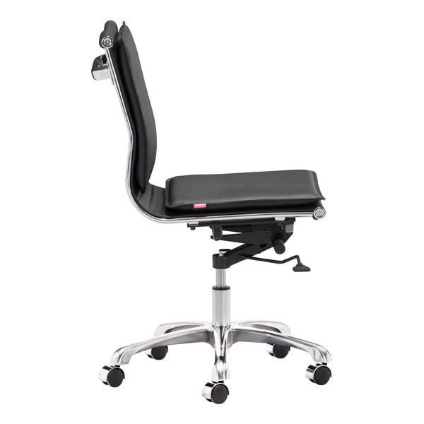 Lion Armless Office Chair Black, EMFURN - 1