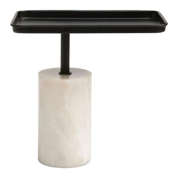Damon Black & White Accent Side Table