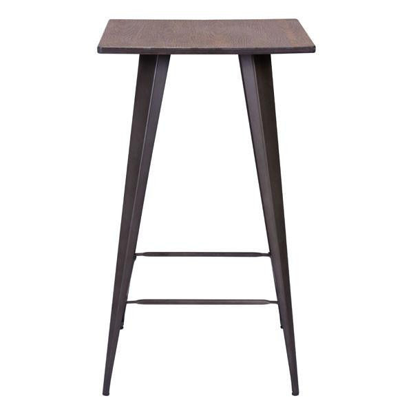 Atlas Rustic Wood Bar Table , EMFURN - 1