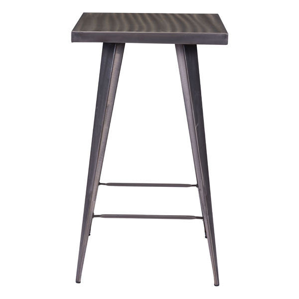 Robin Rustic Gunmetal Bar Table , EMFURN - 1