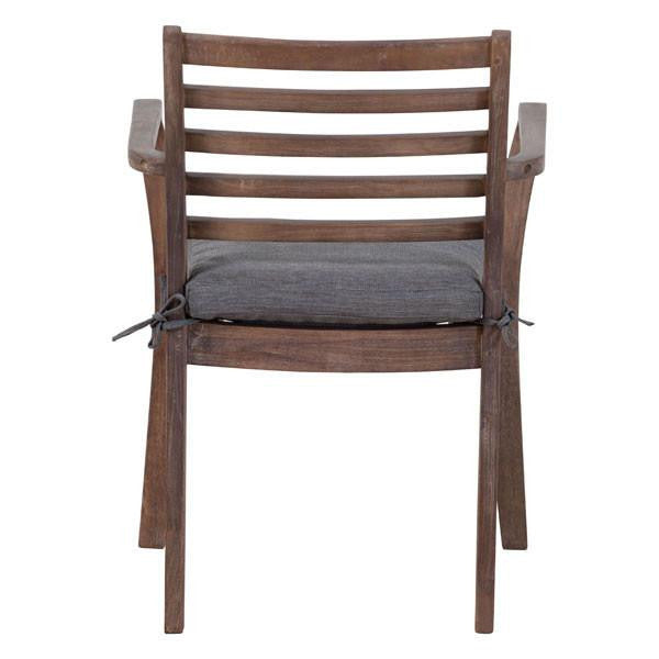 Bordeaux Outdoor Natural Grey Dining Chair , EMFURN - 1