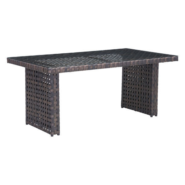 Bruna Brown Outdoor Dining Table , EMFURN - 1