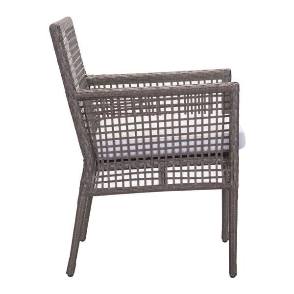 Kendall Cocoa Outdoor Dining Chair (Set of 2)