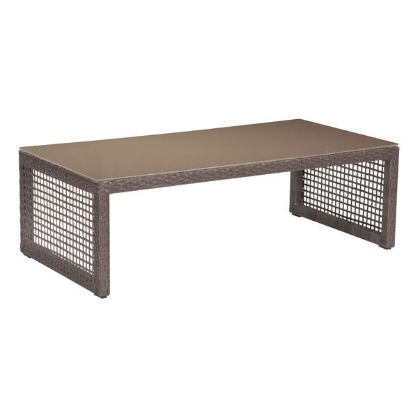 Kendall Cocoa Outdoor Coffee Table EMFURNCA - Kendall coffee table