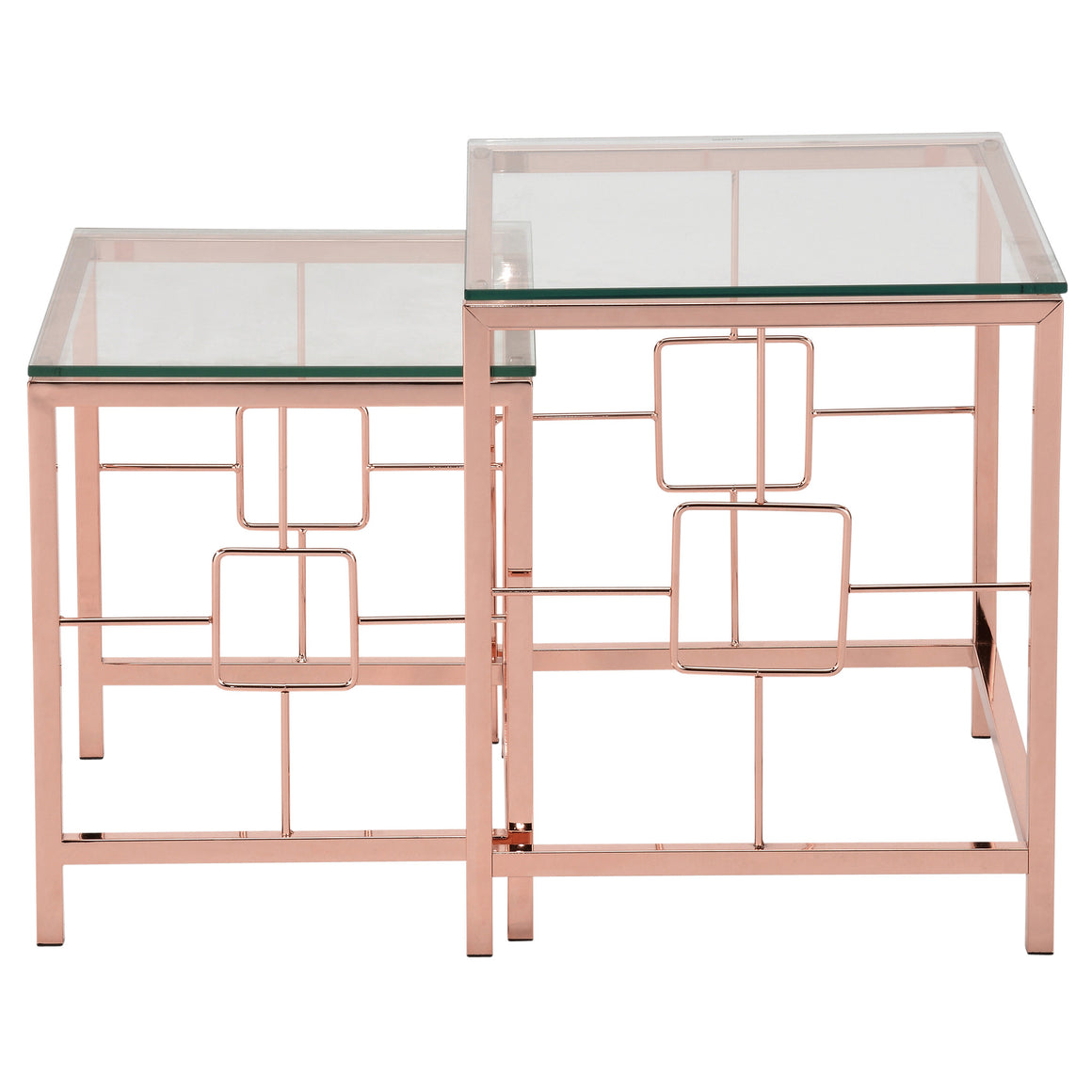 Athena Rose Gold 2pc Nesting Table