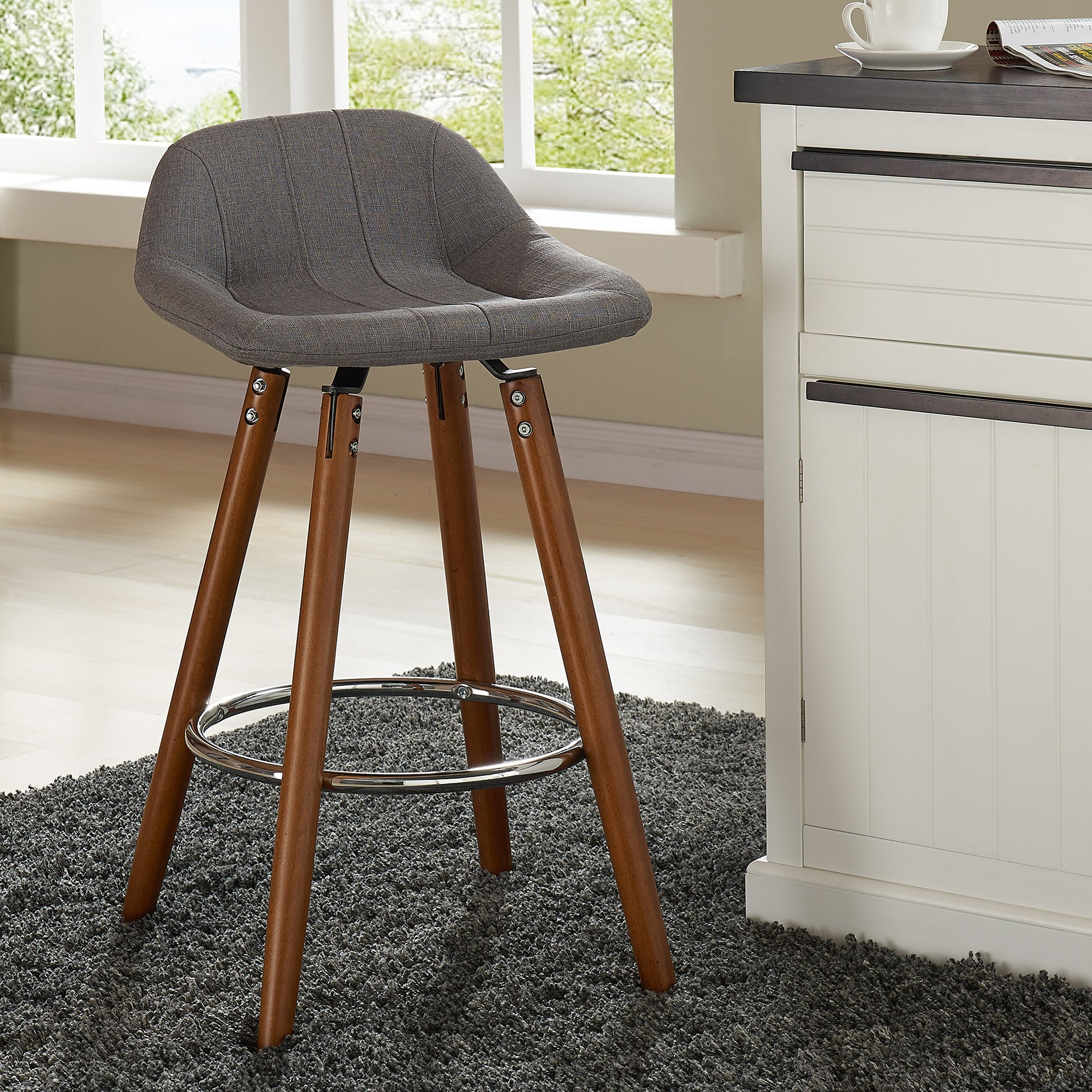 buren in vintage stools counter stool grey